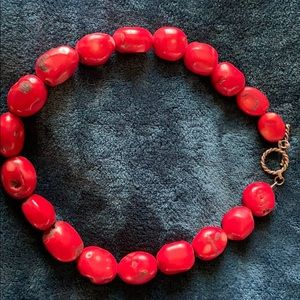 Jewelry - Red Coral bead necklace